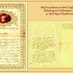 *wie dazumal*  -  Einladung zur Konfirmation 1899