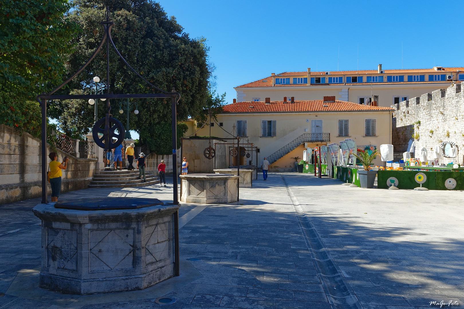 Wie Dazumal - Fünf-Brunnen-Platz in Zadar