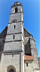 Wie dazumal ragt der Turm vom Münster St Georg in Dinkelsbühl