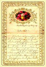 *wie dazumal*  -  Taufpatenbrief 1899