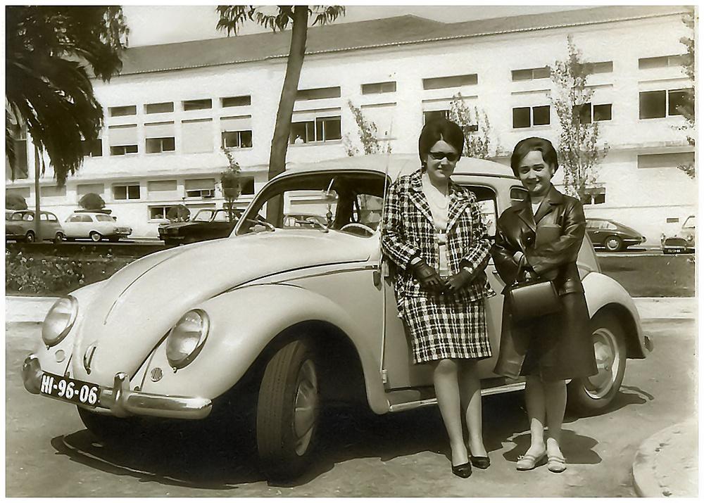 Wie Dazumal...io, con mia cara amica Marina , vicino al   mio adorato WV..