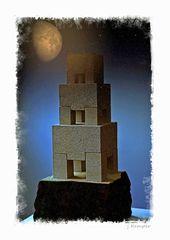 - wie der Turm zu Babel -