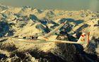 Wie ein Adler in den Bergen fliegen