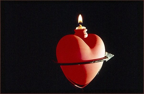 Wie eine Kerze leuchtet