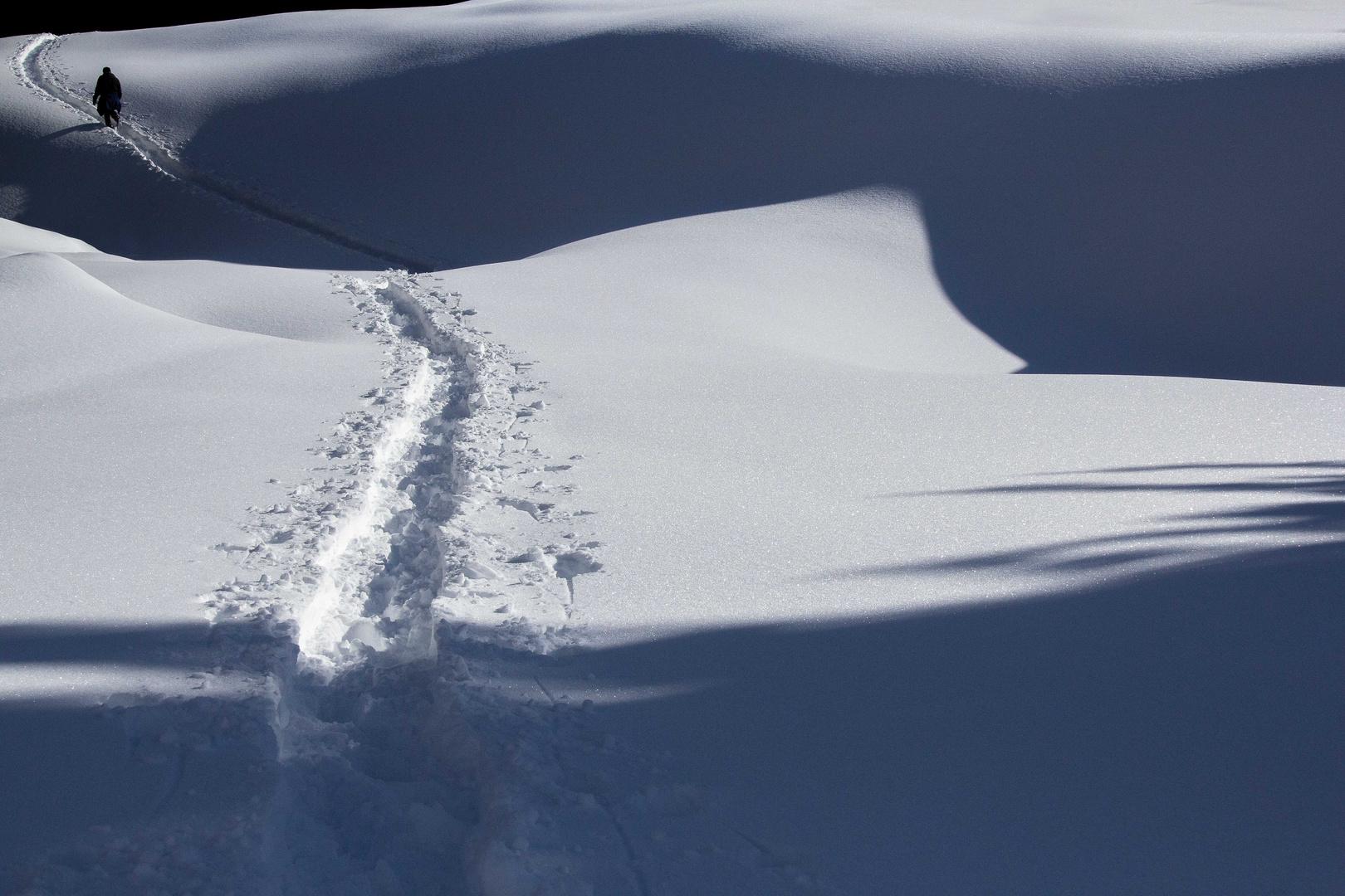 Wie Schnee, so schmilzt der Tag...