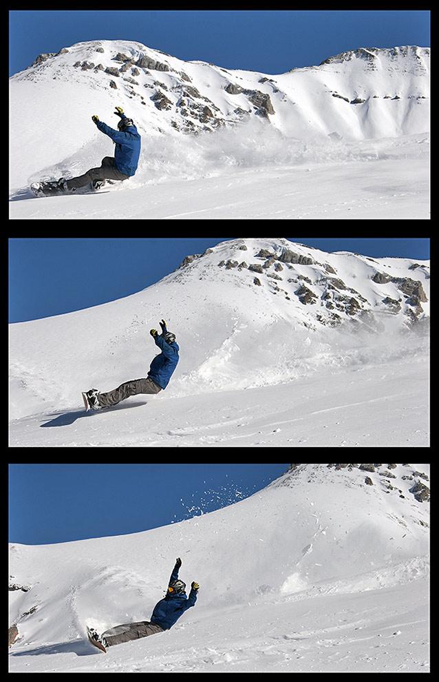 wie sich snowboarder hinsetzen...