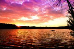 wieder mal ein Sonnenuntergang am U-See und die Stille genießen