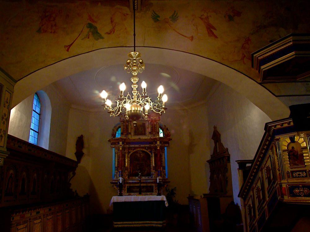 °°° Wiederentdeckte Wandmalereien in der Kirche zu Stolzenhain a.d.Röder °°°