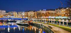Wien bei Nacht, am Donaukanal