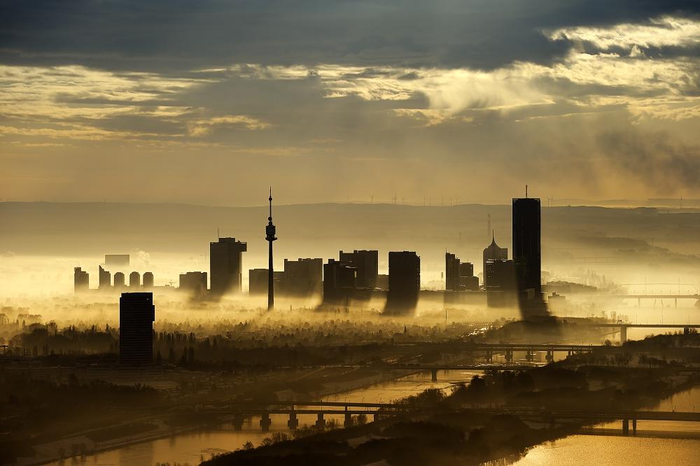 Wien-Nord an einem Wintermorgen