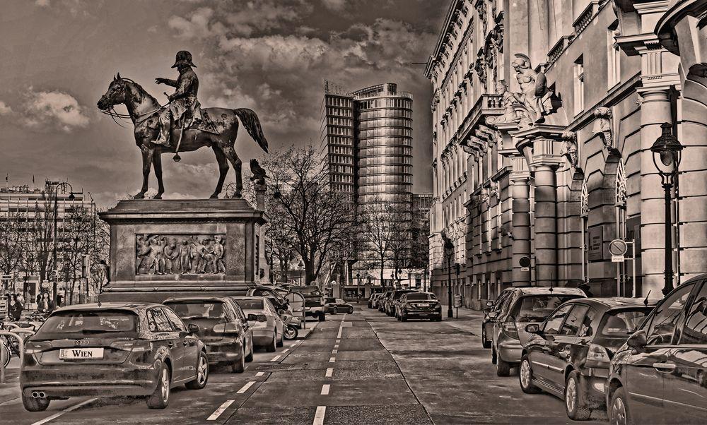 Wien - Radetzky Reiterstandbild -