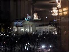 Wien wird jetzt von Kronleuchtern beleuchtet.