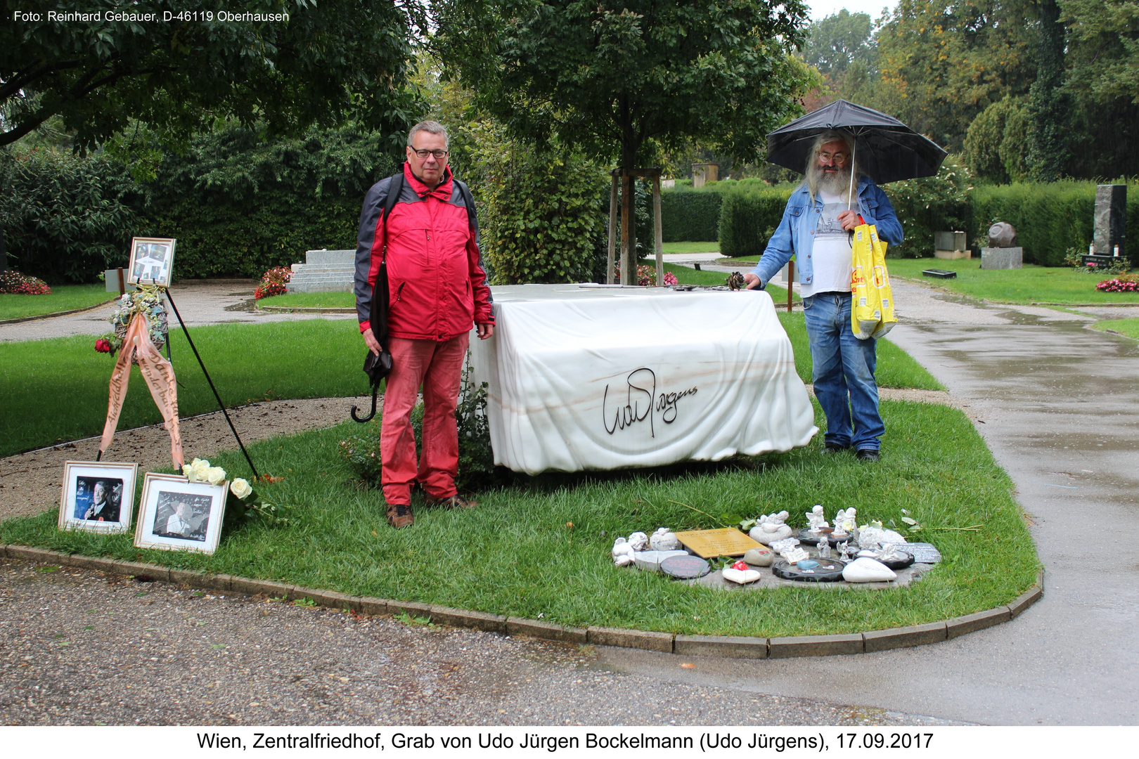 Wien, Zentralfriedhof, Grab von Udo Jürgen Bockelmann (Udo Jürgens), 17.09.2017