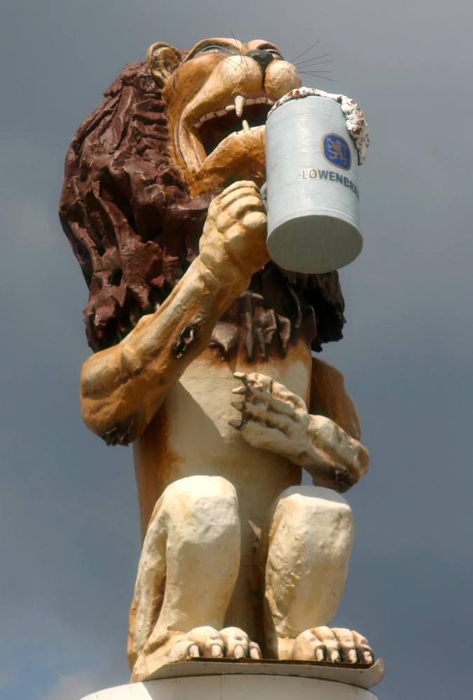 Wiesenaufbau - Löwenbräu Löwe II