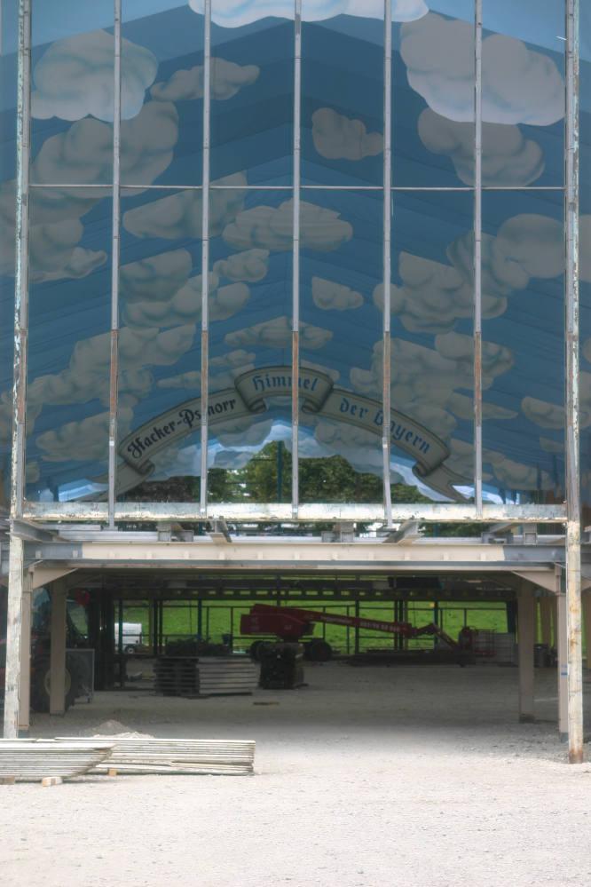 Wiesenaufbau - Pschorr Zelt