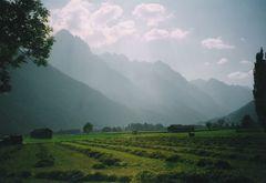 Wiesenweg Amlach - Lienz Heuernte