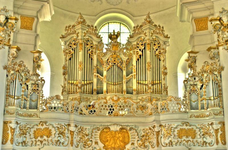 Wieskirche - Orgel (HDR)