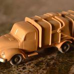 WIKING-Magirus Müllwagen - 1956-58 - Neuzustand !!! ('Rundhauber', unverglast, mit 2 Mülltonnen !)