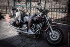 Wikinger auf Motorrad