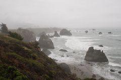 Wilde Sonoma-Küste südlich von Fort Ross