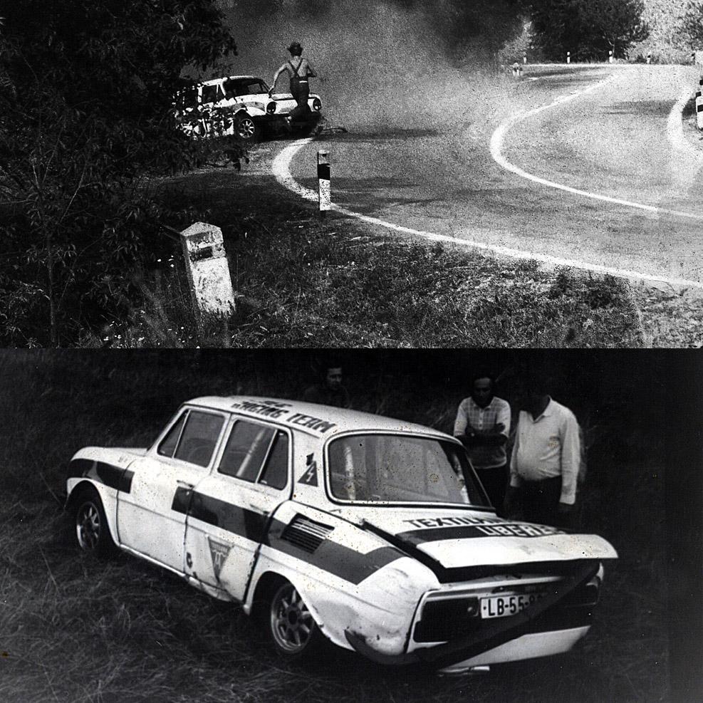 *wilde Zeiten* ... damals, in frühen 70er am Berg in der CSSR : Ladislav Bares, Skoda 110 L, Gr. A2