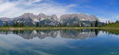 Wilder Kaiser - Panorama mit Spiegelung