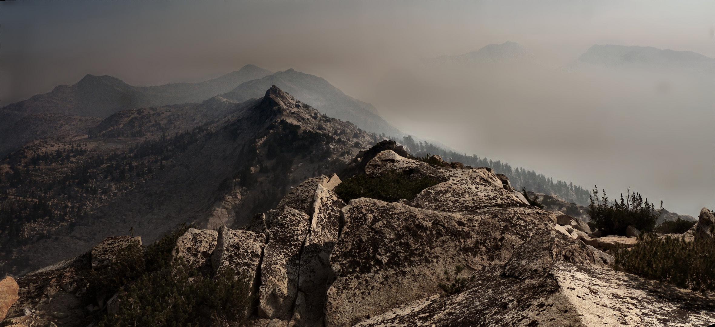 wildfire smoke fills Jack Main canyon