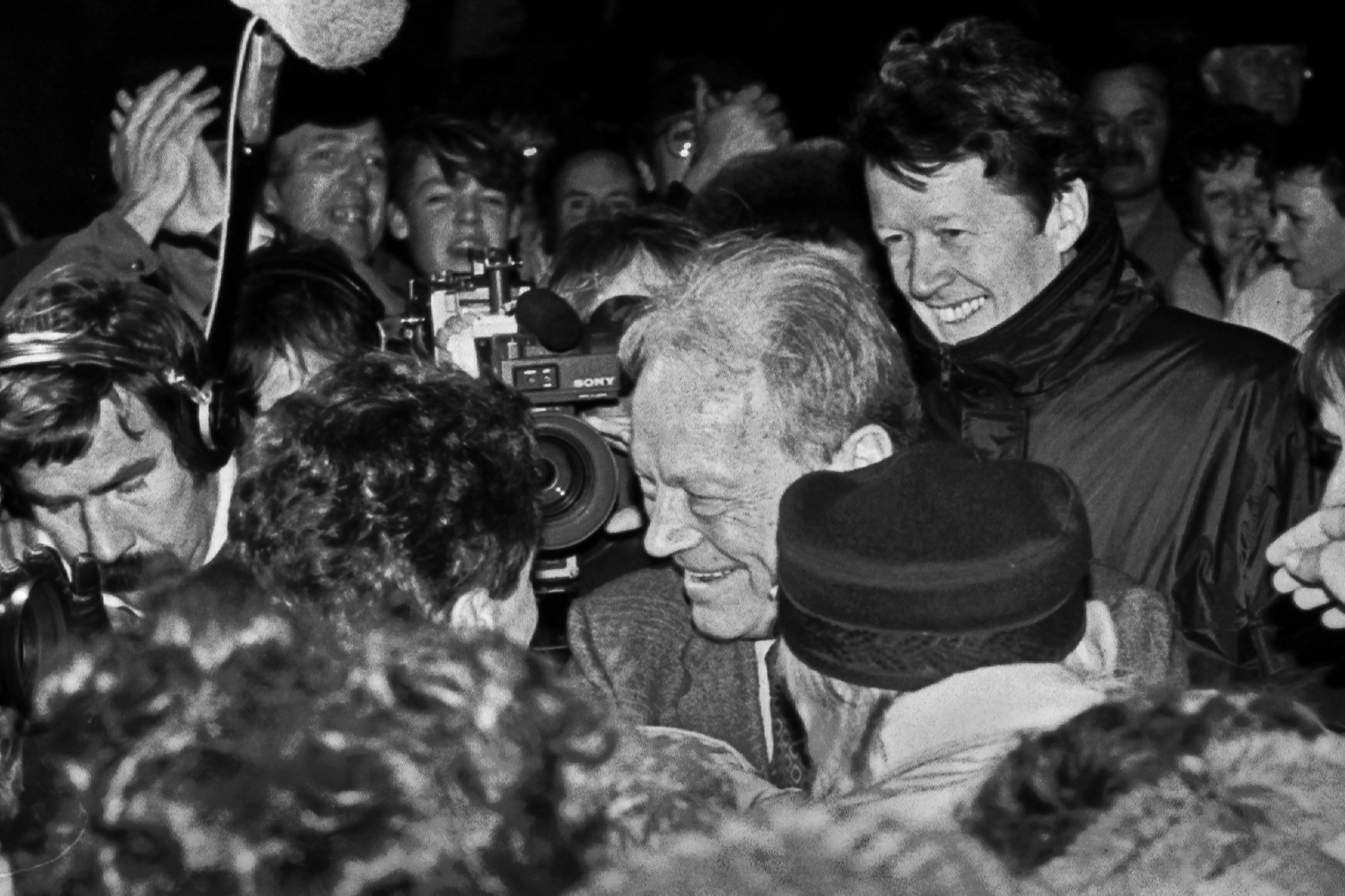 Willy Brandt 1989 in Rostock