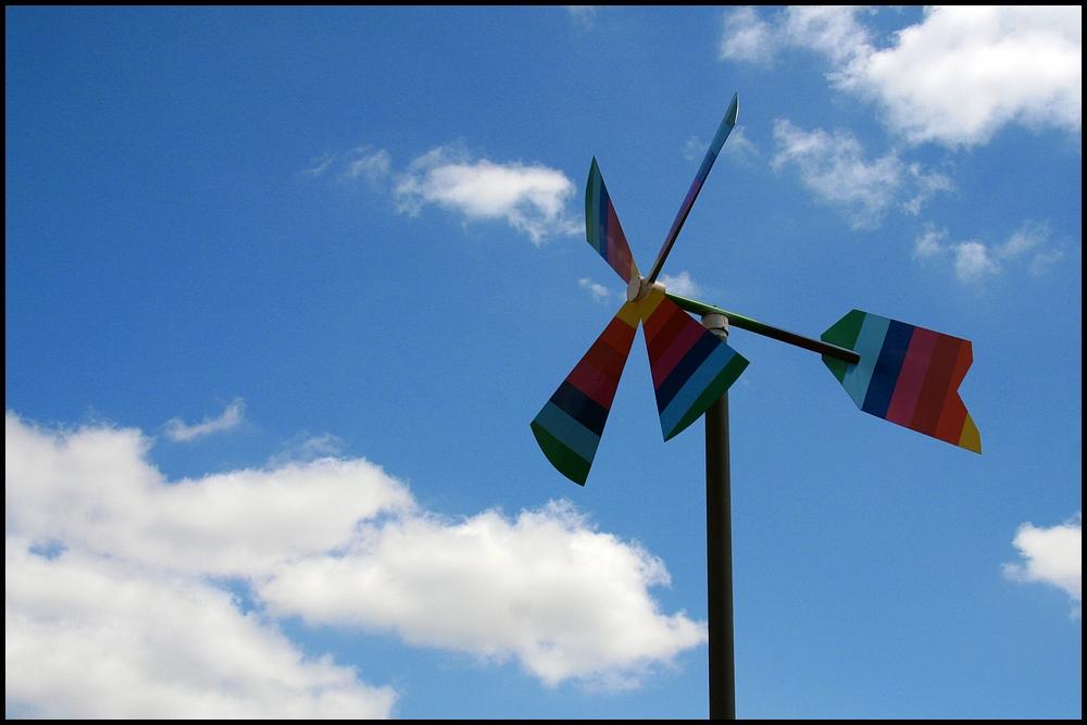 Wind ist Luft die es eilig hat
