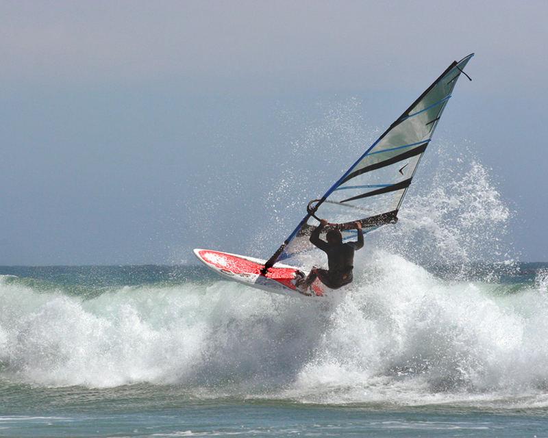 Wind Surfer in California