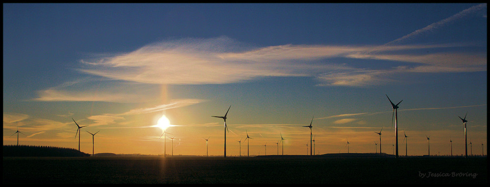 Wind und Sonne am Abend