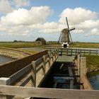 Windmühle auf der Insel Texel