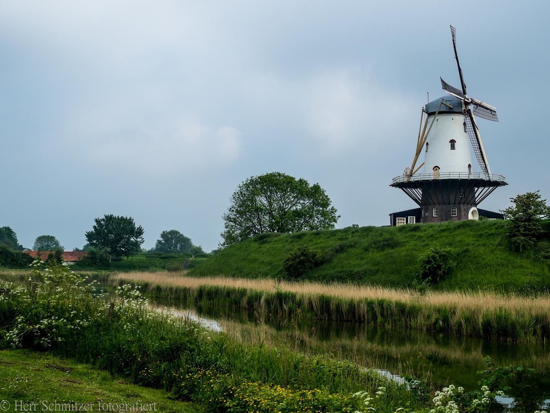 Windmühle in Zeeland, Holland