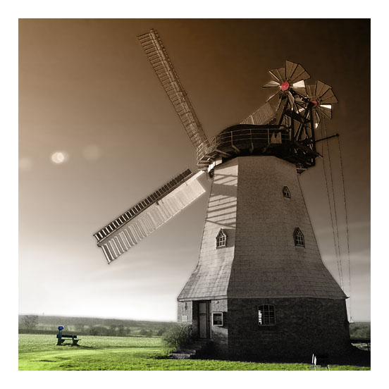 Windmühle RotGrün