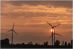 Windmühlen in der Sonne
