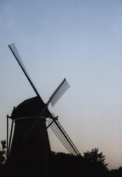 Windmühlensilhouette