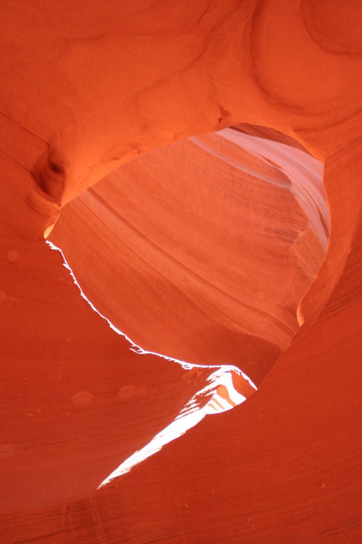 Window im Lower Antilope Canyon