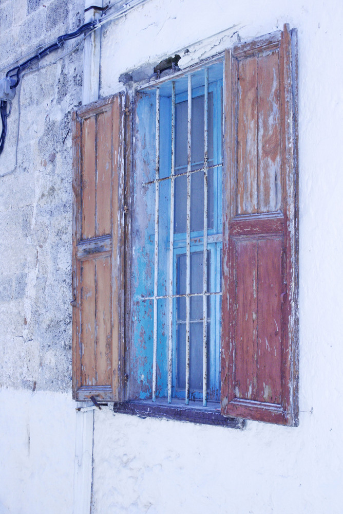 window in rhodos town