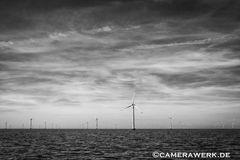 Windpark auf See