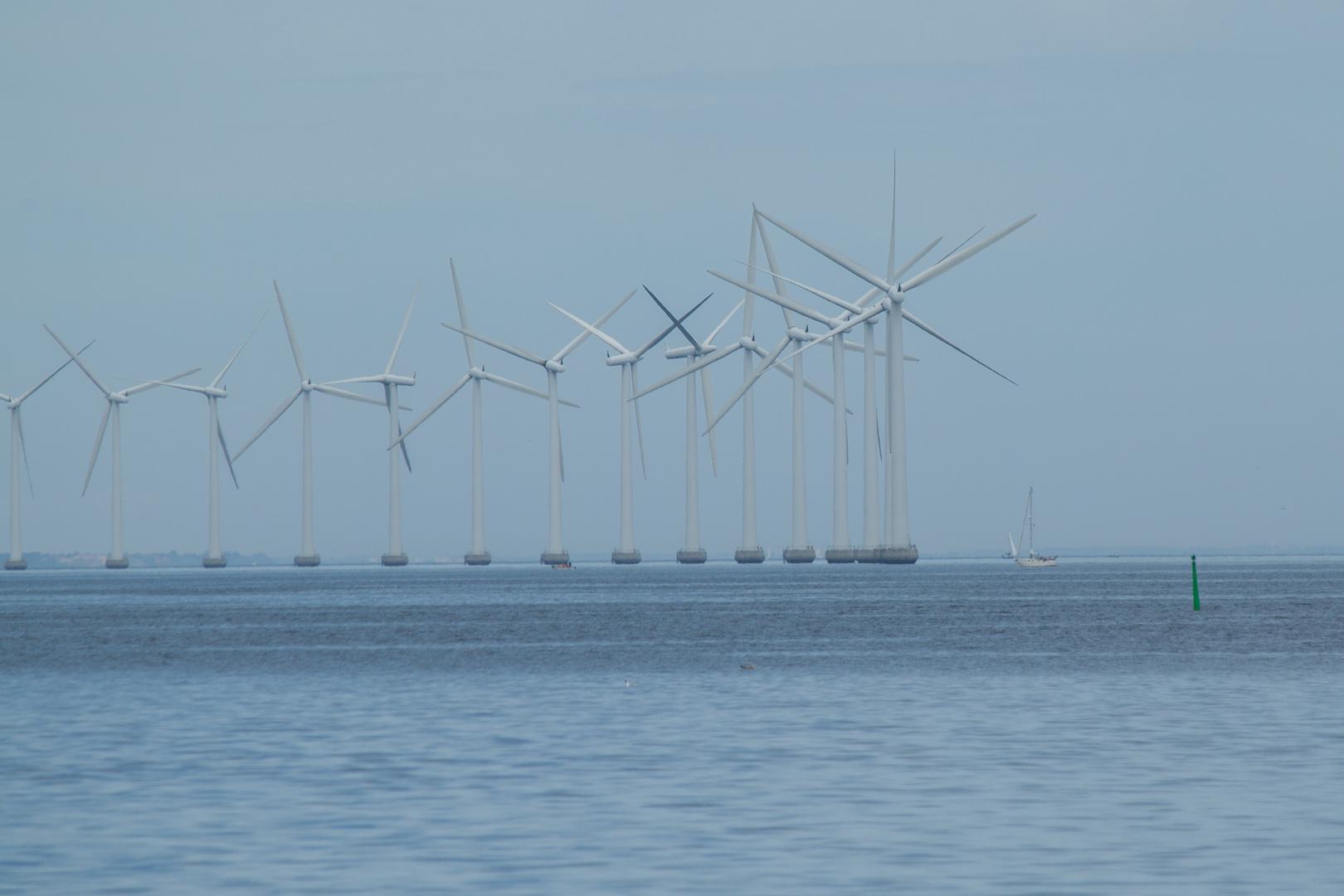 Windpark vor dem Flughafen