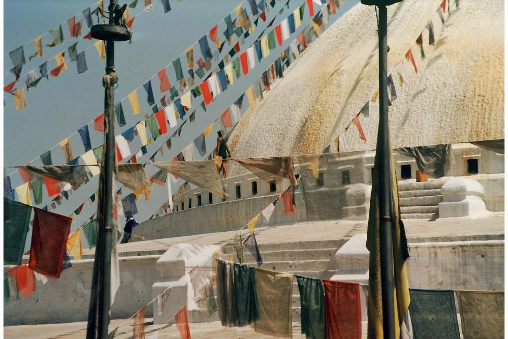 Windpferde Bodnath Kathmandu Nepal