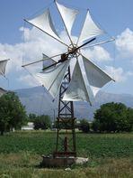 Windrad auf der Lassithi-Hochebene auf Kreta