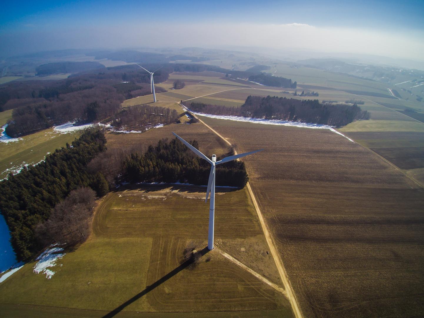 Windräder bei Westerheim Alb