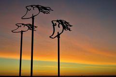 Windwächter vor Sonnenaufgang.