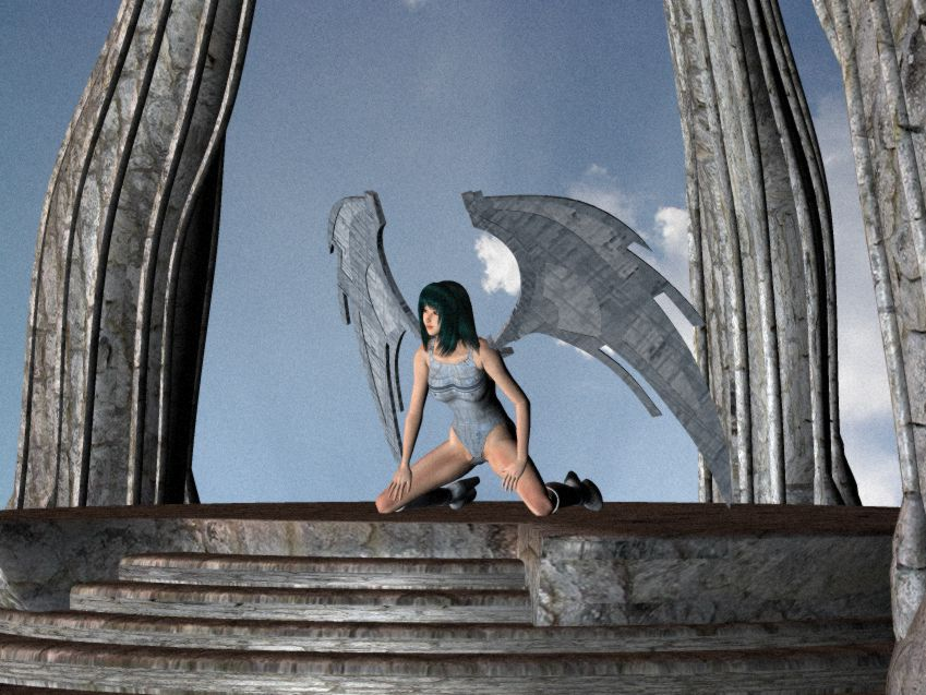 Winged Girl - royo style