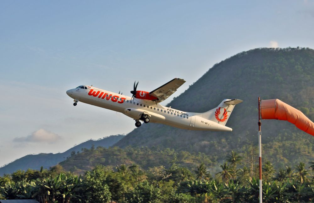 Wings Air in Ende/Flores/Indonesien