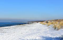 Winter 2021 am Strand zwischen Hohe Düne und Markgrafenheide