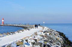 Winter 2021 auf der Warnemünder Ostmole