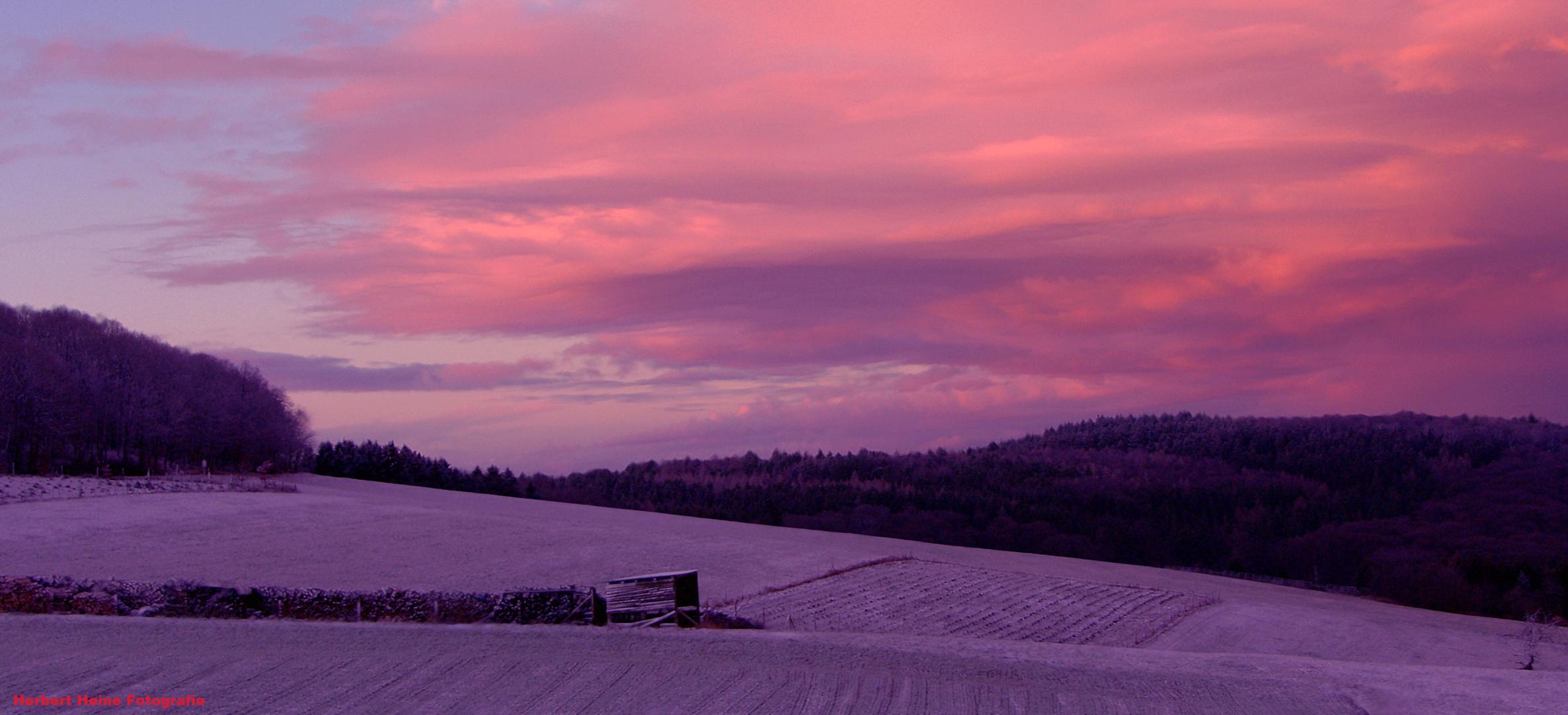 Winter 2021, in der Eifel: Frostig, bei minus 8 Grad ......
