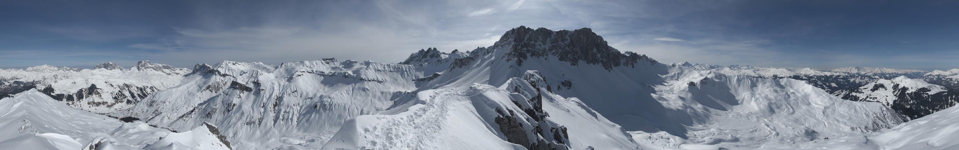 Winter-360Grad Hasenflüeli (Graubünden, Schweiz)